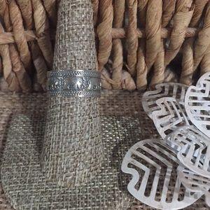 Elephant Band Ring Artisan Crafted Sz 7